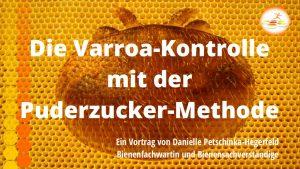 Varroa-Kontrolle mit der Puderzuckermethode