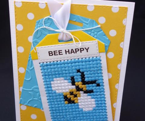 Selbstgemachte Bienenkarte