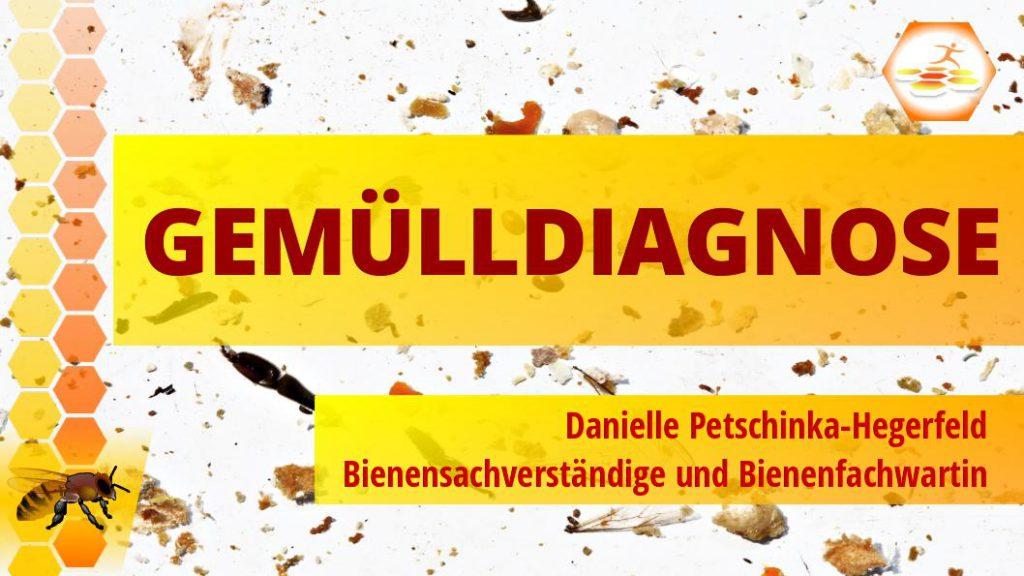 Vortrag Gemülldiagnose - Bienensachverständige und Bienenfachwartin Danielle Petschinka-Hegerfeld