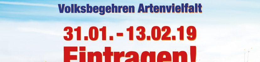 Volksbegehren Artenvielfalt – Eintragen in Nürnberg